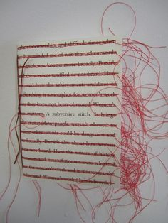A Subversive Stitch - artists book by Fiona Dempster / Paper Ponderings 2012 - Book art - Textiles, Zine, Buch Design, Book Projects, Project Ideas, Handmade Books, Book Binding, Altered Books, Fabric Art