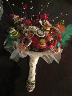 Bridal Bouquet  Buttons. Beads  Brooches  and Mickey  by artseero