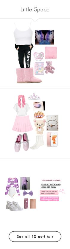 """""""Little Space"""" by cryxbabie ❤ liked on Polyvore featuring Dimepiece, UGG Australia, Topshop, Glitter Pink, SANRIO, Keds, River Island, Kate Marie, Tiffany & Co. and cute"""