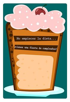 """""""No Empieces La Dieta""""  printable invitation template. Customize, add text and photos. Print or download for free!"""