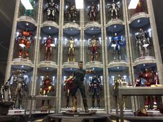 Hot Toys Iron Man Wall Of Armor Display at SideShow Collectibles