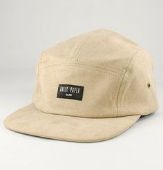 Daily Paper Suede Five Panel Cap · Beige