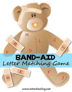Children will love putting band-aids on this adorable bear from Totschooling! This Free printable game is perfect for letter recognition and prete
