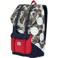 aa72dc41183 Herschel Supply - Little America 25L Backpack - Kaleidoscope Collection - Frog  Camo Barbados Cherry