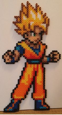 Goku Dragon Ball Z perler beads by MeltyCreations