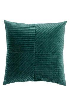 Pikowana poszewka na poduszkę - Ciemnozielony - HOME | H&M PL 1