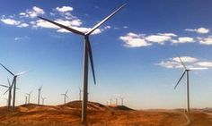 A windfarm is pictured near Burra, South Australia.