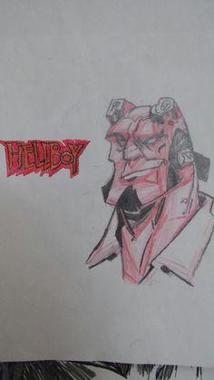 Hellboy my drawing