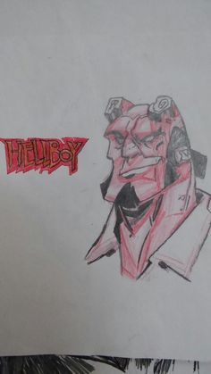 Hellboy my drawing