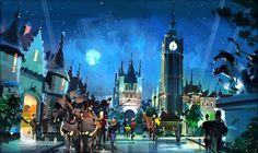 Neverland Park concept art, the unbuilt theme park commissioned by Michael Jackson