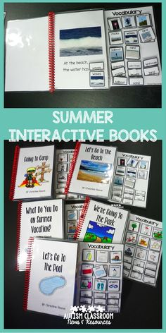 Great summer vocabulary with words and pictures.  Even nonreaders can read using these books and can be engaged in literacy activities.