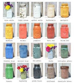 Sweet Pickins Milk Paints- what a cute way to show your company's paint color choices!