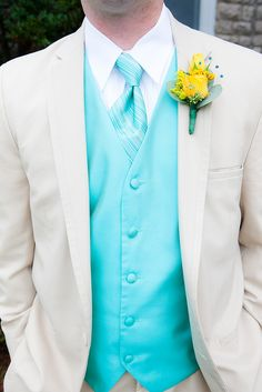 groomsmen tux; I like the blue but I'd rather the tux be in black