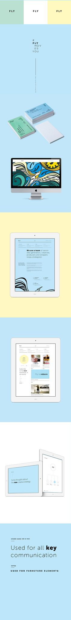 Fly: Branding by Tanmay Desai, via Behance