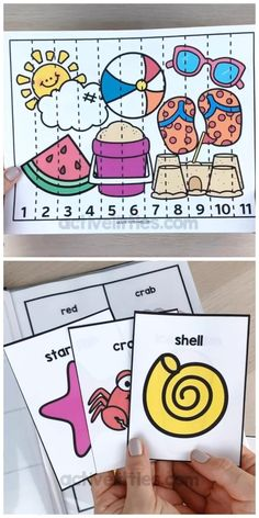 Toddler Learning Activities, Preschool Learning Activities, Play Based Learning, Kids Learning, Summer Themes For Preschool, Numbers Preschool, Teaching Numbers, Summer Camps For Kids, Task Boxes