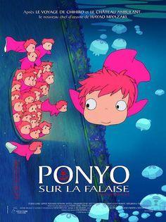 Ponyo sur la falaise, près de la mer