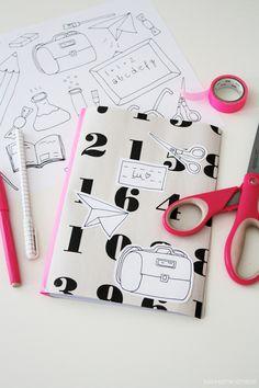 Luloveshandmade: DIY & Free Printable: Notebook and Illustration for School