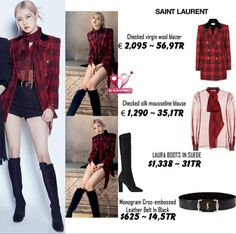 Blackpink Fashion, Kpop Fashion Outfits, Stylish Outfits, Korean Fashion, Ariana Grande Fragrance, Looks Teen, Korean Style, Fashion Sketches, I Dress