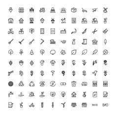 The Agriculture & Ecology Icons 100 by The Store on @creativemarket