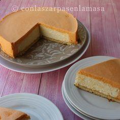 Tarta mousse de melocotón con corazón de nata - Peach Mousse Cake with Cream Heart