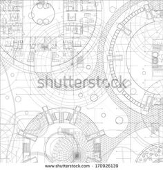 Grungy technical drawing vector illustration of gears and architectural blueprint vector drawing background stock vector malvernweather Image collections
