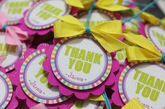 THANK YOU tags for Jazmin's treat bags