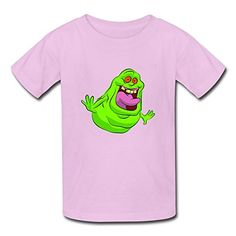 Funny 100% Cotton Ghostbusters Slimer Logo Kids Boys And Girls T Shirts Pink Size S @ niftywarehouse.com #NiftyWarehouse #Ghostbusters #Movie #Ghosts #Movies #Film