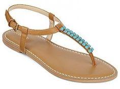 Liz Claiborne Gypsy Beaded Flat Thong Sandal - 2013 Summer Sandals - New York Family