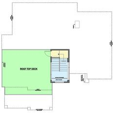 Modern House Plan with Roof Top Deck - floor plan - Third Level Building Design Plan, Deck Building Plans, Deck Plans, Cool Deck, Diy Deck, Deck Design, House Design, Modern House Floor Plans, Deck Construction