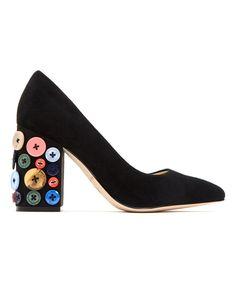 Look at this #zulilyfind! Katy Perry Footwear | Black The Anjelica Suede Pump by null #zulilyfinds