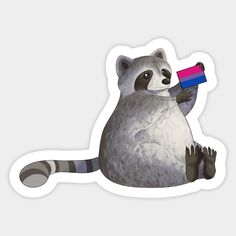 Funny Stickers, Custom Stickers, Pansexual Pride, Lesbian Pride, Raccoons, Journal Stickers, Hard Hats, Favorite Tv Shows, Vinyl Decals