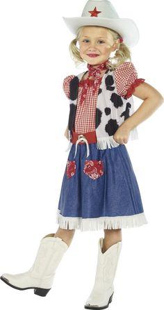 Este disfraz de vaquera es perfecto para Carnaval o para cualquier otra fiesta de disfraces.