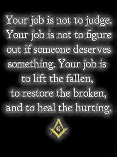 The job of a Master Mason