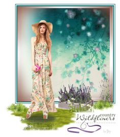 Country Wildflowers Dress by dop37 on Polyvore featuring polyvore, fashion, style, Brian Yates and country