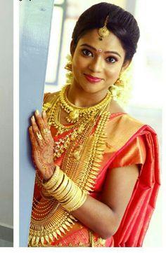 South Indian Wedding Saree Bride Weddings Ceremony Bridal Outfits Wear