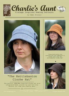 New: Sewing pattern to make the Kettlebaston Cloche Hat PDF