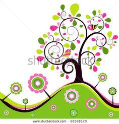 stock vector : Floral spring background, vector illustration