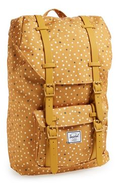 polka dot mustard #yellow backpack http://rstyle.me/n/pmrdzr9te