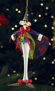 """PATIENCE BREWSTER 2013 DROSSELMEYER ORNAMENT Dimensions: 7"""" x 4"""" Primary Material: Stone Resin"""