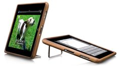 Handmade Wooden iPad 2 Case by Vers >> Love this, with the stand too!