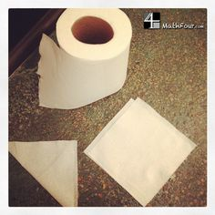 What can you say about the math in toilet paper?