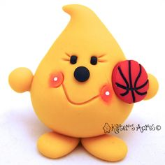 BASKETBALL PARKER  Sports Series  Polymer Clay Customizable Ornament or Figurine by KatersAcres - Makes a great stocking stuffer!
