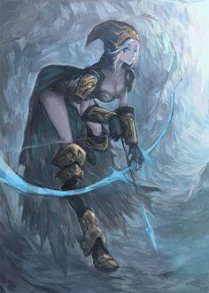 League of Legends---Ashe by TEnmoom.deviantart.com on @deviantART