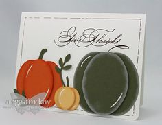 Great fall card with oval punch