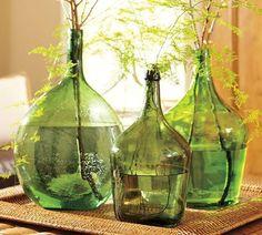 garrafas damajuanas como floreros