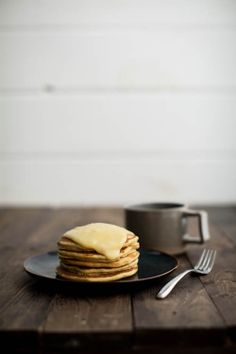 Cornbread Pancakes with Maple-Lemon Curd | Naturally Ella