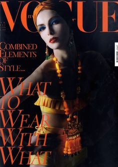 KRISTINA SALINOVIC | VOGUE ITALIA APRIL, 2011 COVER : PHOTOGRAPHED BY STEVEN MEISEL