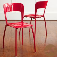 @Overstock - Add a unique contemporary flare to any room in your house with these comfortable and stylish modern-style chairs.http://www.overstock.com/Home-Garden/Christopher-Knight-Home-Red-Modern-Chairs-Set-of-2/6452421/product.html?CID=214117 $135.99