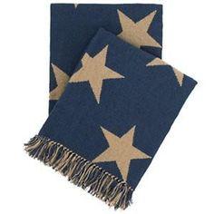 Star Navy Indoor/Outdoor Throw #worthynzhomeware wwworthy.co.nz