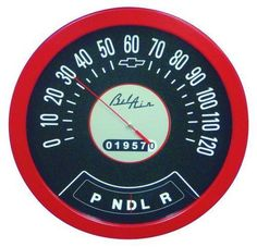 1957 Chevy Bel Air Speedometer Wall Thermometer